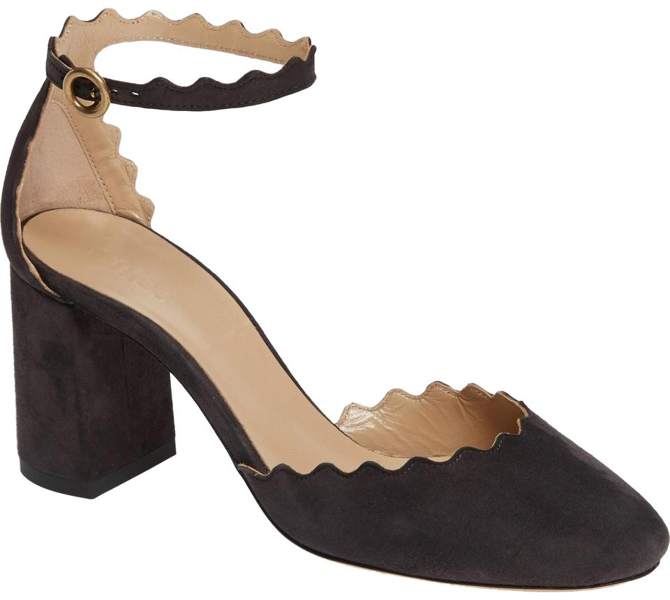 3c66869b952a Chloé Black Lauren Scalloped D orsay Suede Pumps Size EU 40 (Approx ...