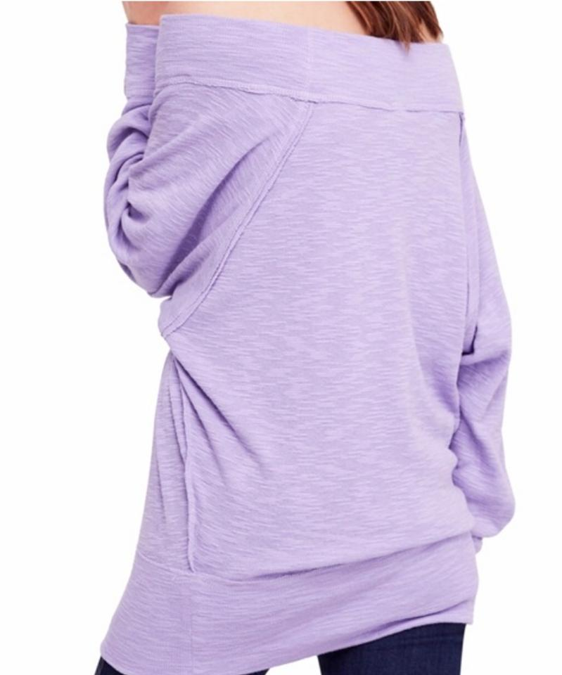 de7262c3e61702 Free People Lilac Dust Palisades Off-the-shoulder Thermal Blouse Size 10  (M) - Tradesy