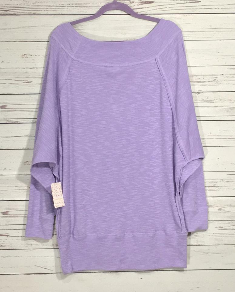 0f1f6b81d73a71 Free People Lilac Dust Palisades Off-the-shoulder Thermal Blouse ...