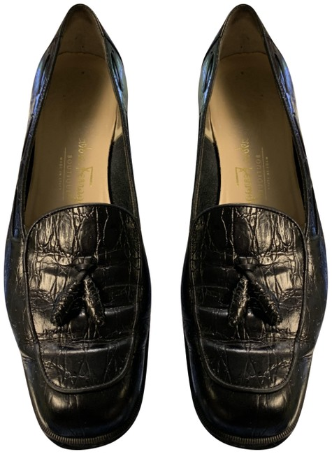 Item - Black Womens 2a Loafers Slip On Mules/Slides Size US 7.5 Narrow (Aa, N)