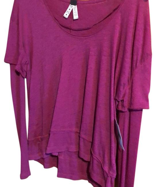 Free People Pink Ob537914 Blouse Size 2 (XS) Free People Pink Ob537914 Blouse Size 2 (XS) Image 1