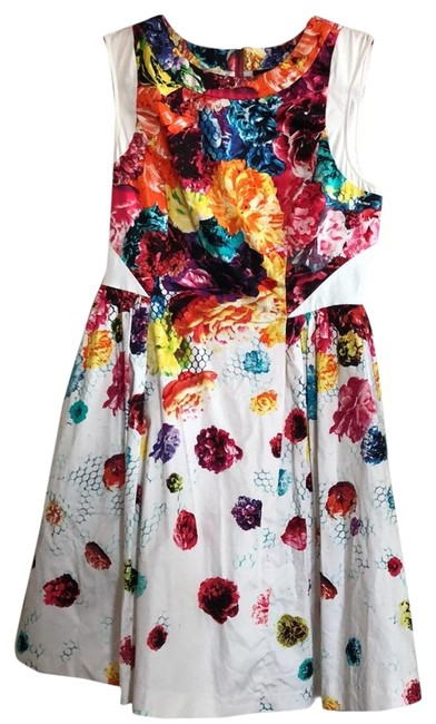 Item - Floral Print with Full Skirt Short Casual Dress Size 4 (S)