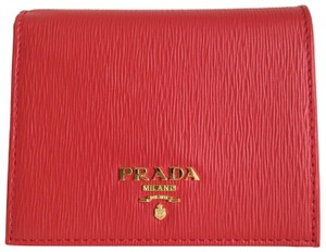 Prada Prada Small Saffiano Leather Flap Wallet 1PG222