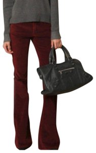 Theory Boot Cut Pants Red