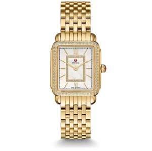 Michele Deco II Mid Stainless Mother of Pearl Diamond Dial MWW06I000007