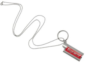 Supreme Limited Edition Box Logo Ss19 Metal Lighter Holster Silver Chain