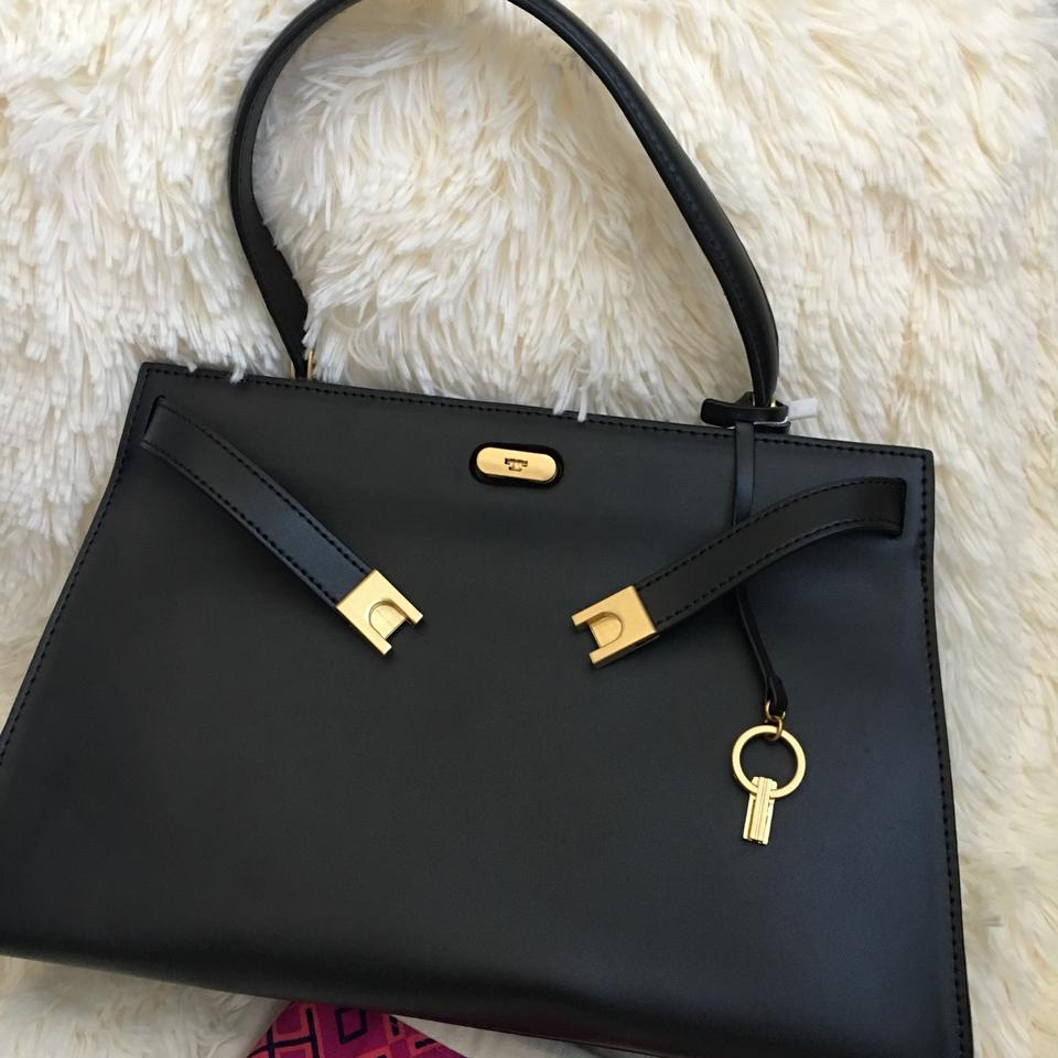 476e7d58f3b1 Tory Burch Lee Radziwill Small Black Leather Satchel - Tradesy