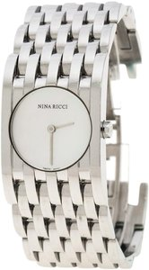 Nina Ricci White Mother Pearl Stainless Steel N000113 Women's Wristwatch 25 mm