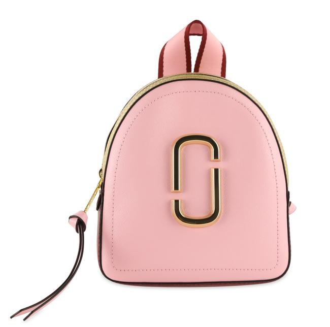 Item - Colorblock Mini Pack Shot Pink Leather Backpack