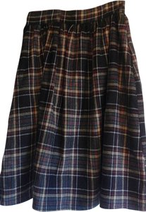 Modcloth Night Out Casual Date Night A-line Skirt Brown plaid