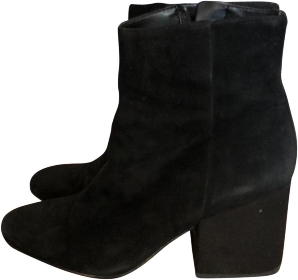37a177efc21e Sam Edelman Black Taye Suede Ankle Boots Booties Size US 7.5 Regular ...