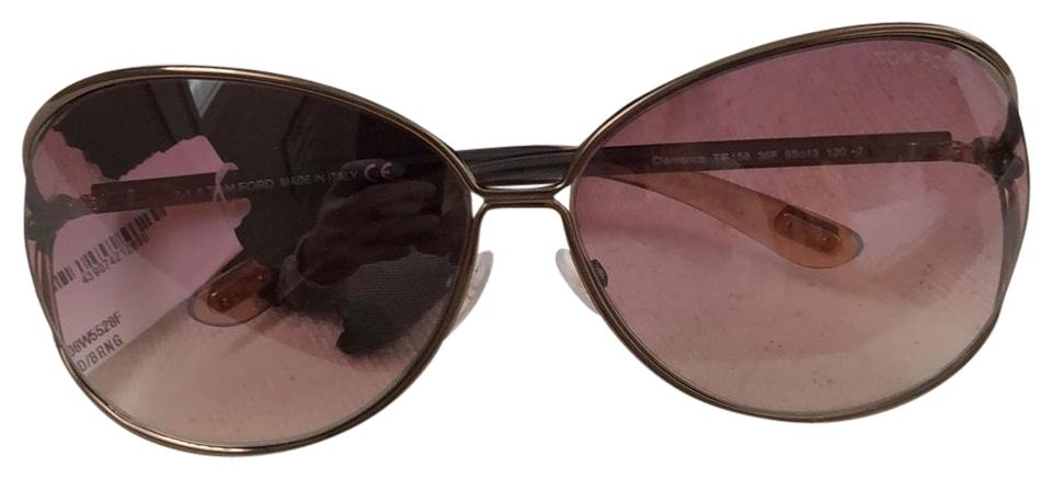 293bba17870ff Tom Ford Bronze Frame with Brown Rose Gradient Lens Clemence Tf158 ...