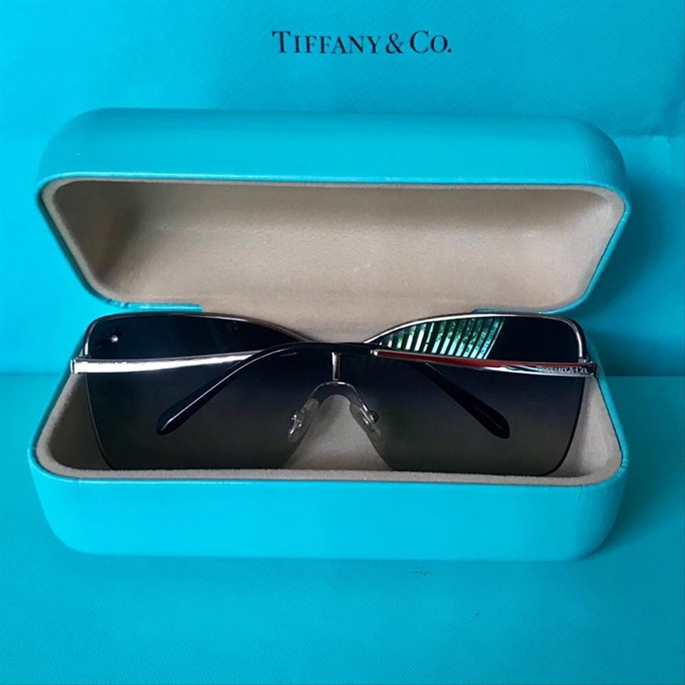 9d47309f6c4 Tiffany   Co. Wrap Shield Dragonfly Sunglasses Model TF3030 Silver Frame  Image 11. 123456789101112
