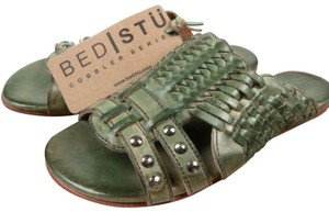 Bed|Stü Green Teal Rustic Sandals