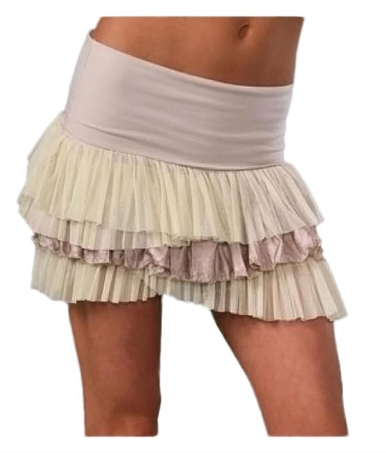 Item - Beige Combo Ruffled Layers Skirt Size 2 (XS, 26)