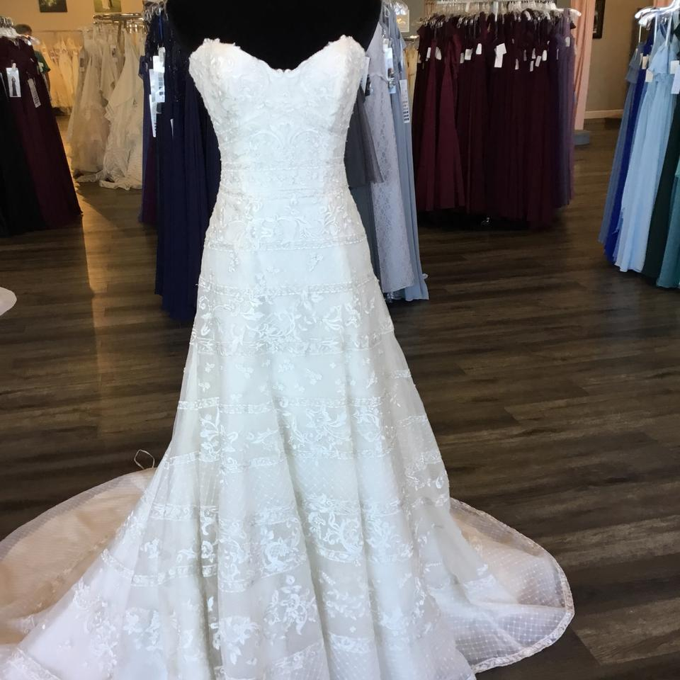 Maggie Sottero Lace Wedding Gown: Maggie Sottero Antique Ivory/Silver Lace 8mc545 Renee