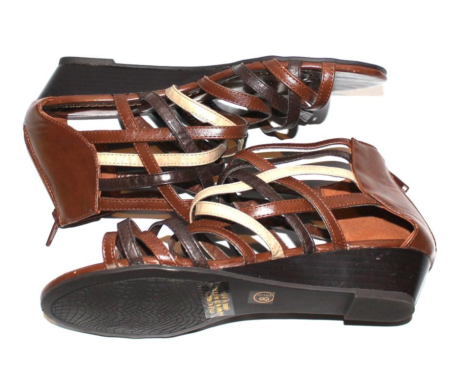 245bc82eb Multi-shades Of Brown Strappy Sandals. Size  US 8.5 Regular (M ...