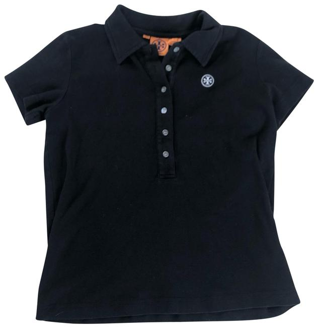 Item - Black and Silver Polo Button-down Top Size 4 (S)