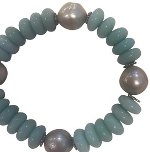 Stephen Dweck Sterling Silver Blue Chalcedony, Amazonite, Silver