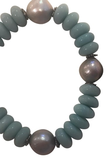 Stephen Dweck Sterling Silver Blue Chalcedony, Amazonite, Silver Image 2