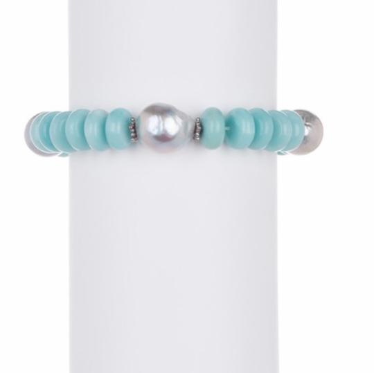 Stephen Dweck Sterling Silver Blue Chalcedony, Amazonite, Silver Image 3
