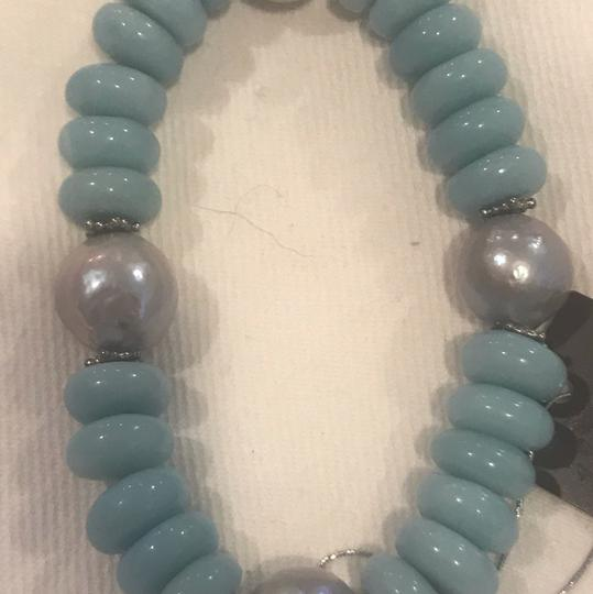 Stephen Dweck Sterling Silver Blue Chalcedony, Amazonite, Silver Image 4
