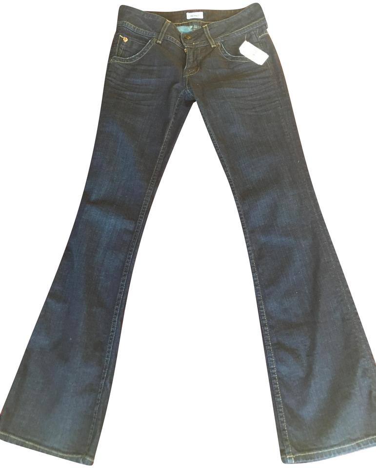 2b63e7d4925 Hudson Blue Denim Medium Wash Petite Signature Boot Cut Jeans Size ...
