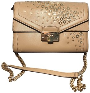 Michael Kors Mk Convertible Shoulder Floral Embossed Cross Body Bag