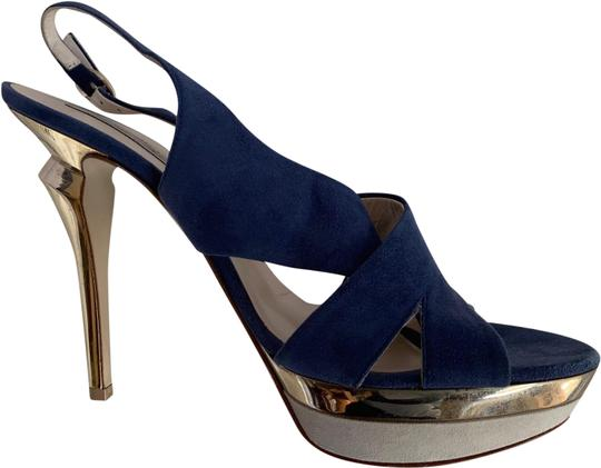 Preload https://img-static.tradesy.com/item/24924689/blue-metallic-heel-sandals-size-eu-385-approx-us-85-regular-m-b-0-1-540-540.jpg