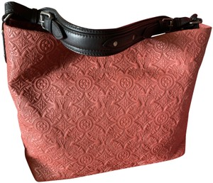 Louis Vuitton Embroidered Collector Exclusi Tote in Rose Putty