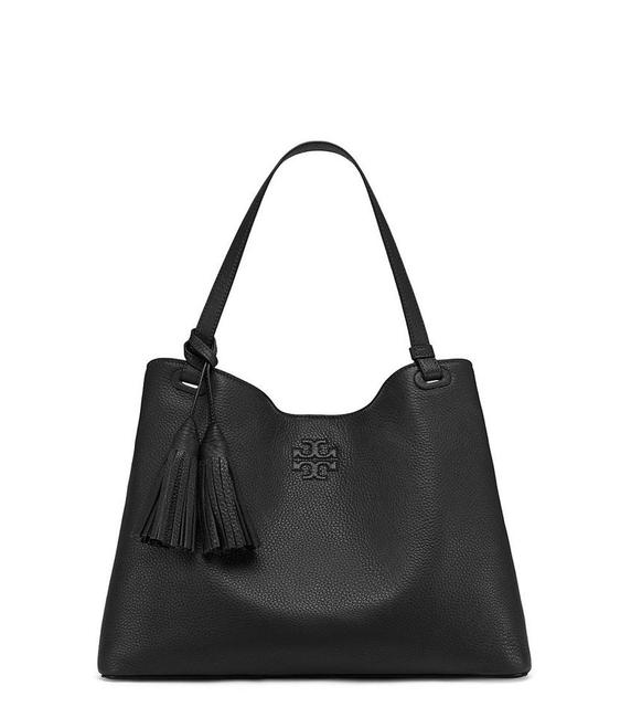 Item - Thea Center Zip Black Leather Tote
