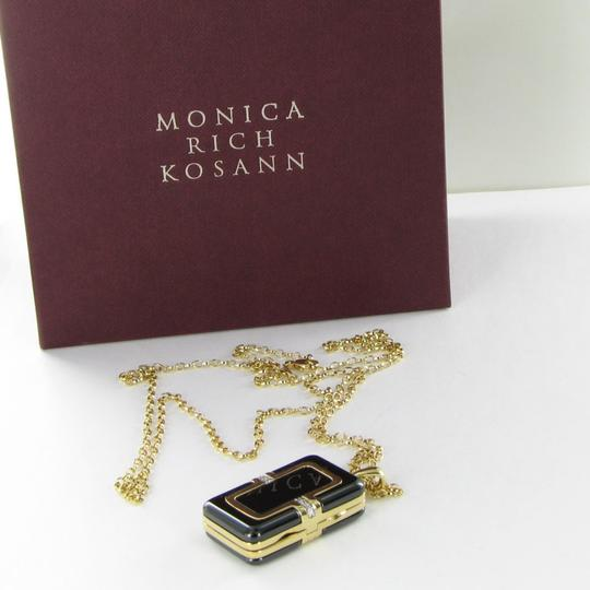 MONICA RICH KOSANN Monica Rich Kosann Necklace Rectangular Locket Diamond 18K Ceramic Image 2