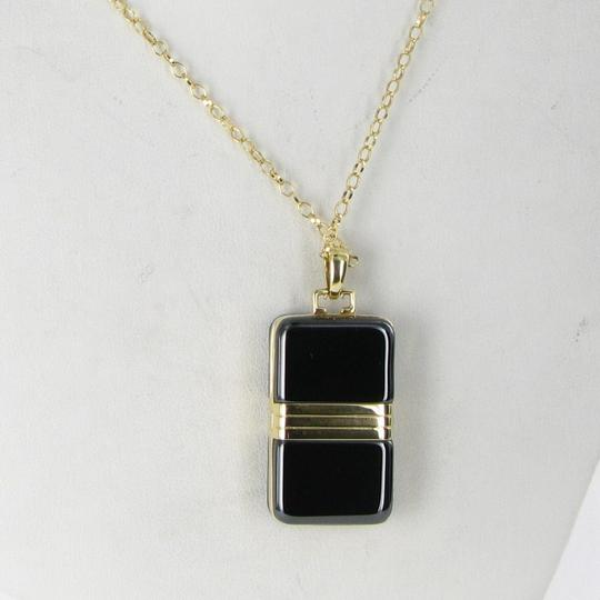 MONICA RICH KOSANN Monica Rich Kosann Necklace Rectangular Locket Diamond 18K Ceramic Image 4
