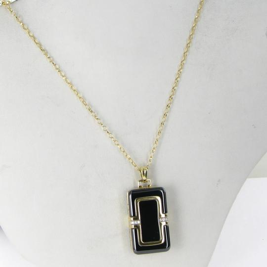 MONICA RICH KOSANN Monica Rich Kosann Necklace Rectangular Locket Diamond 18K Ceramic Image 5