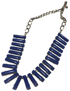 Vintage Vintage blue metal link necklace