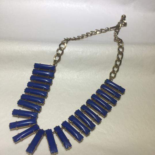Vintage Vintage blue metal link necklace Image 1