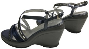 Hogan Comphrtable Sandals Purple top / Gray bottom Wedges