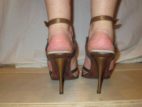 Shahe G Sexy Strap Ankle Cute Leather brown green Sandals Image 5