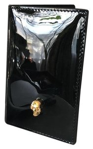 Alexander McQueen Black Skull Card Holder Wallet