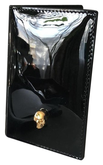 Alexander McQueen Black Skull Card Holder Wallet Image 0