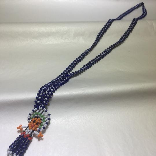 Vintage Vintage blue beaded doll necklace Image 1
