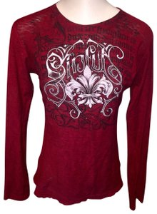 Sinful by Affliction T Shirt red