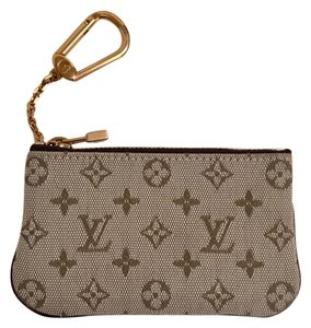 Louis Vuitton Mini Lin Monogram Cles Coin Purse Wallet