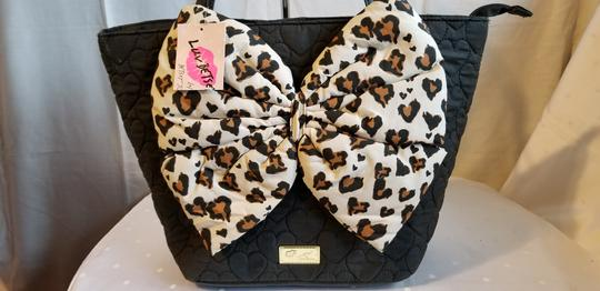 Betsey Johnson Tote in Black and Brown Image 1