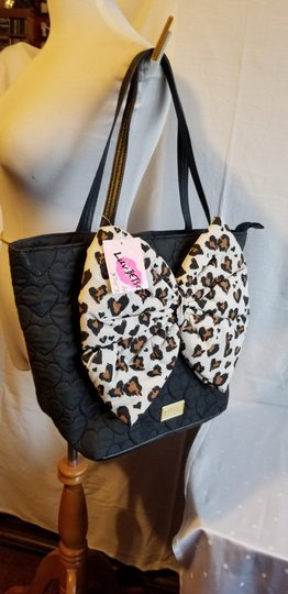 Betsey Johnson Tote in Black and Brown Image 4