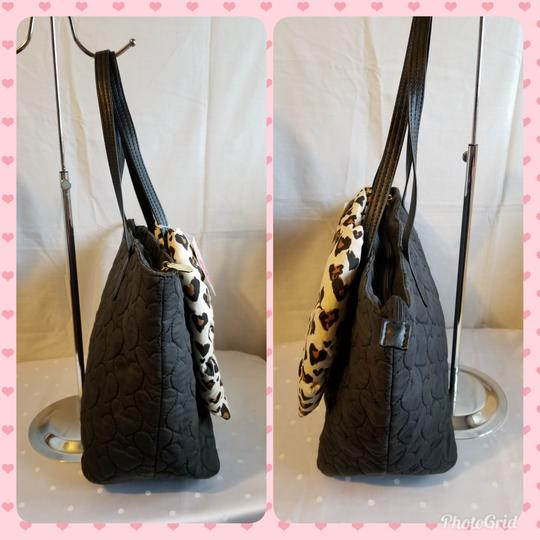 Betsey Johnson Tote in Black and Brown Image 5
