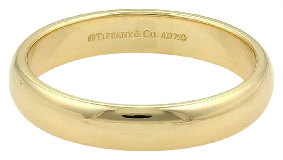Tiffany Co Men S 18k Yellow Gold 4 5mm Dome Wedding Band Size