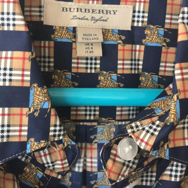 Burberry Burberry Check Button-Front Shirt Dress Image 9
