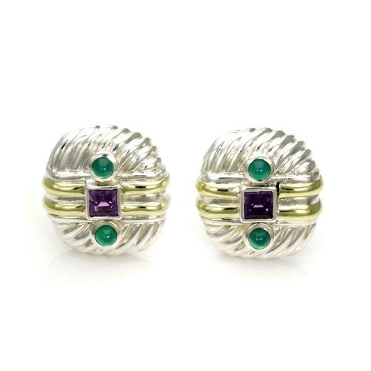 Preload https://img-static.tradesy.com/item/24925205/david-yurman-amethyst-emerald-sterling-14k-gold-cable-post-clip-earrings-0-0-540-540.jpg