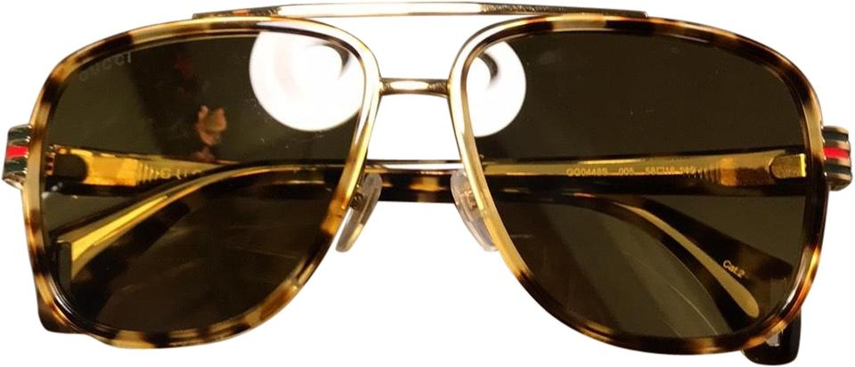 79d4fad872 Gucci Tortoise New Aviator Sunglasses - Tradesy